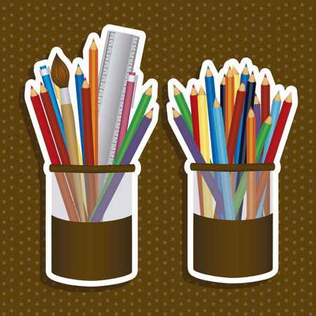 Illustration of back to school, school supplies, vector illustration Vector