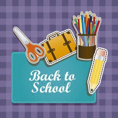 Illustration of back to school, school supplies, vector illustration Stock Vector - 18651489