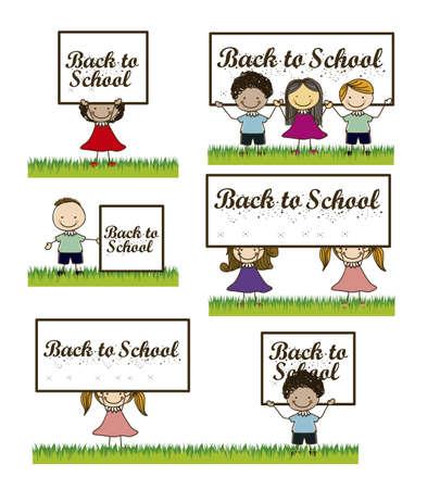 Illustration of back to school, school supplies, vector illustration Stock Vector - 18651463