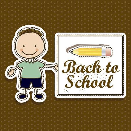 Illustration of back to school, school supplies, vector illustration Stock Vector - 18651114