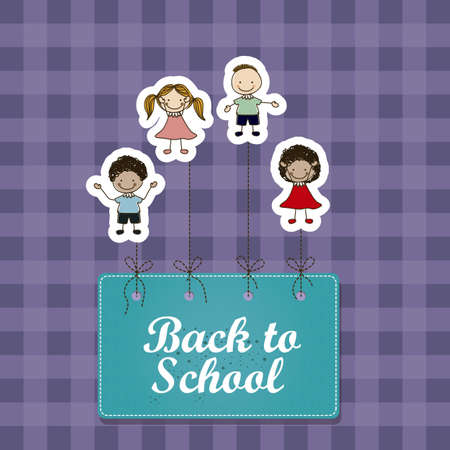 secondary colors: Illustration of back to school, school supplies, vector illustration Illustration