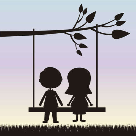 inlove: Illustration of couple in love, dating, vector illustration