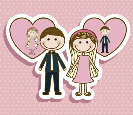 Illustration of couple in love, dating, vector illustration Stock Vector - 18651090