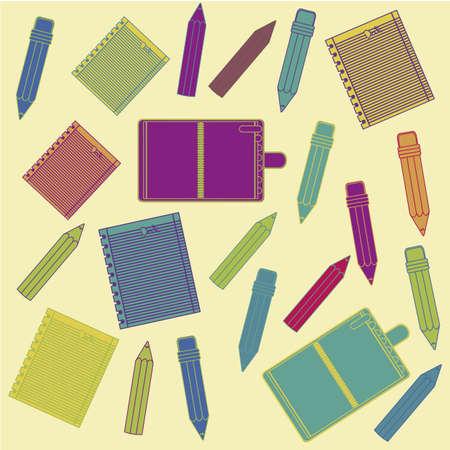 Illustration of back to school, school supplies, vector illustration Stock Vector - 18651461