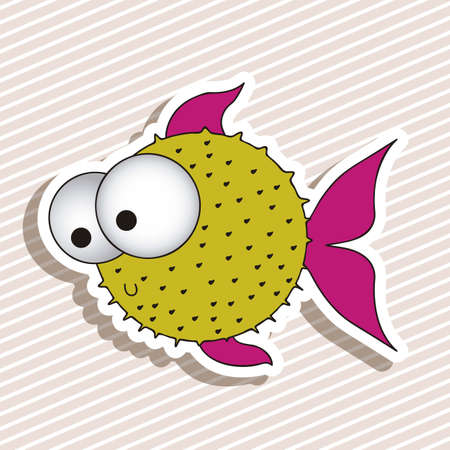 illustration of icons of fish, aquatic animals Stock Vector - 18759855