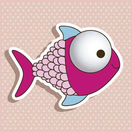 illustration of icons of fish, aquatic animals Stock Vector - 18759881