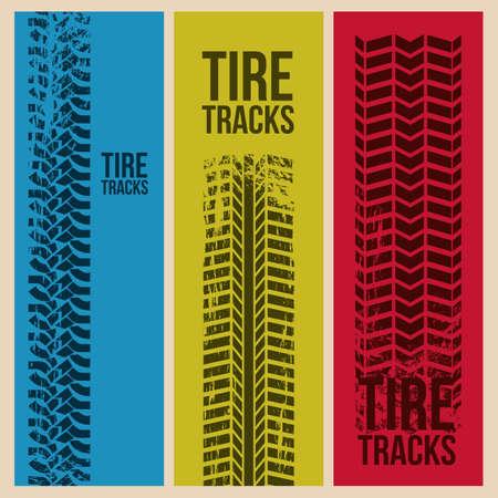 illustration of tire marks on white background Stock Vector - 18752415