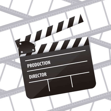 Illustration of cine icon, slate of director Film, vector illustration Stock Vector - 18954198