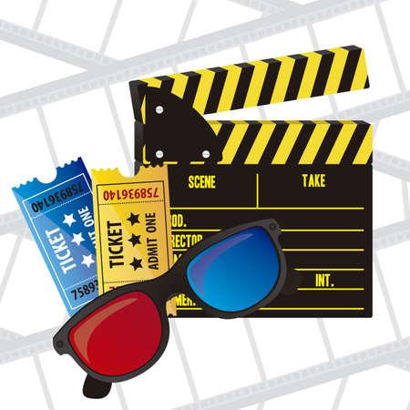 Illustration of cine icon, slate of director Film, vector illustration Stock Vector - 18954258