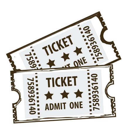 Illustration of icon of cinema, cinema tickets, vector illustration   Vector