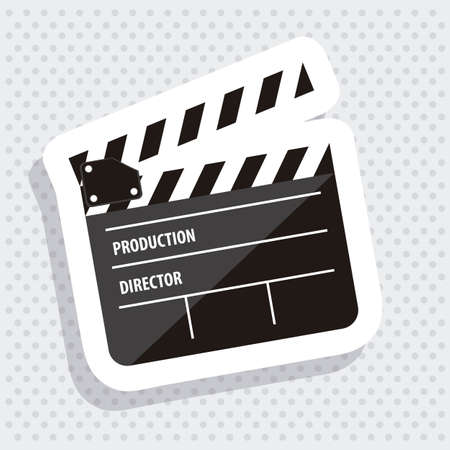 Illustration of cine icon, slate of director Film, vector illustration Stock Vector - 18954229