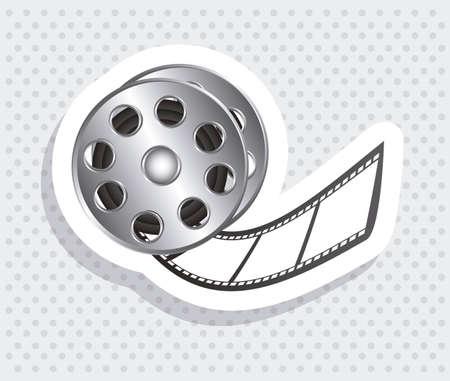 Illustration of icon of cinema, film reel, vector illustration Stock Vector - 18954220