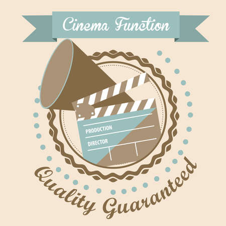 Illustration of icon of cinema,  cine director speaker and slate, vector illustration Stock Vector - 18954218