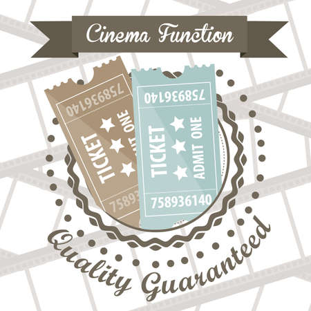 Illustration of icon of cinema, cinema tickets, vector illustration