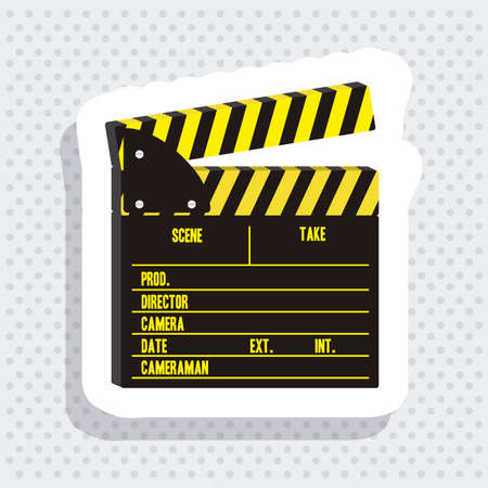 clicker: Illustration of cine icon, slate of director Film, vector illustration Illustration