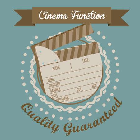 Illustration of cine icon, slate of director Film, vector illustration Stock Vector - 18954246