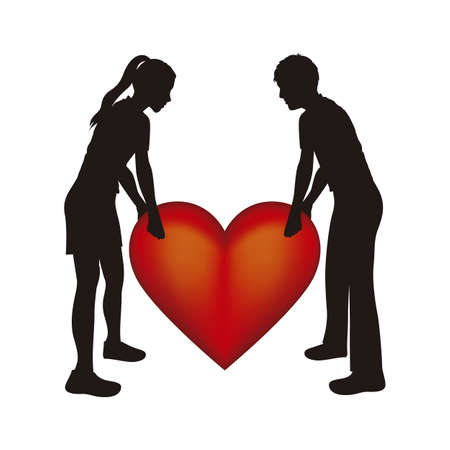 Illustration of couple, illustration of love icons, vector illustration Stock Vector - 18954188