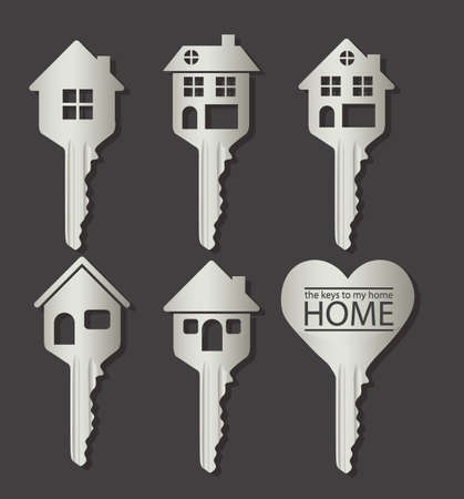 house prices: Illustration of real estate icon, conceptual icon with house, vector illustration