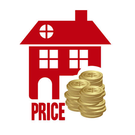 Illustration of real estate icon, conceptual icon with house, vector illustration Stock Vector - 18954252