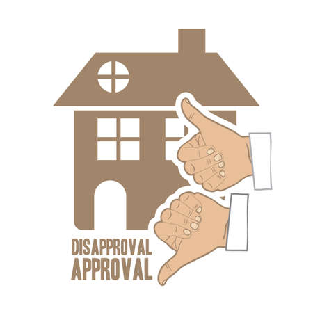 Illustration of real estate icon, conceptual icon with house, vector illustration Stock Vector - 18954189