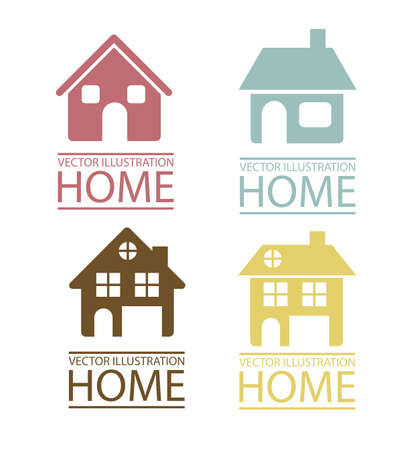 house shopping: Illustration of real estate icon, conceptual icon with house, vector illustration