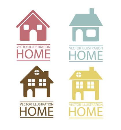 icon vector: Illustration of real estate icon, conceptual icon with house, vector illustration