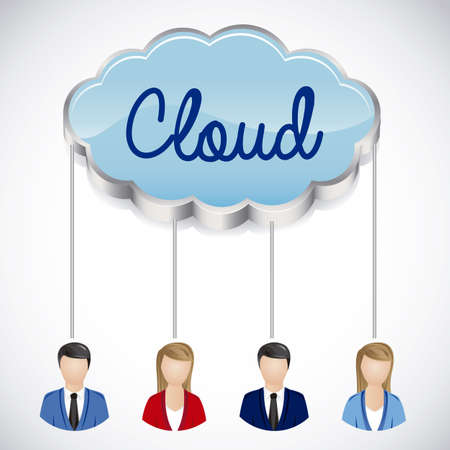 illustration of social networking and cloud-connection, vector illustration Stock Vector - 19050441