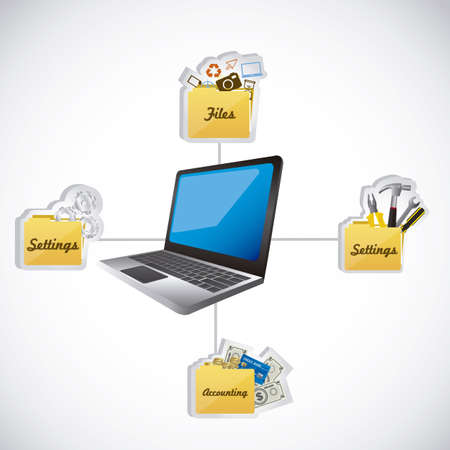 computer software: Illustration of icons of applications, app icons, vector illustration Illustration