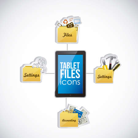 Illustration of icons of applications, app icons, vector illustration Stock Vector - 19051063