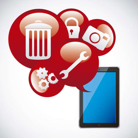 Illustration of icons of applications, app icons, vector illustration Stock Vector - 19050393