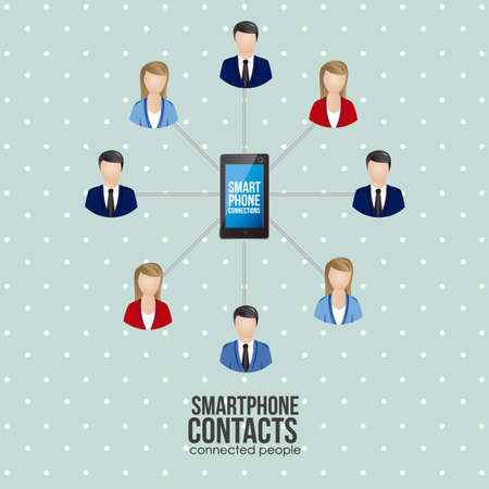 illustration of social networking and smartphone connection, vector illustration Stock Vector - 19050483