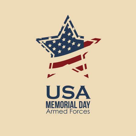 Illustratie Patriottische Verenigde Staten van Amerika, de VS, vectorillustratie