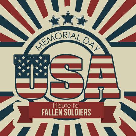 Illustration Patriotic United States of America, USA, vector illustration