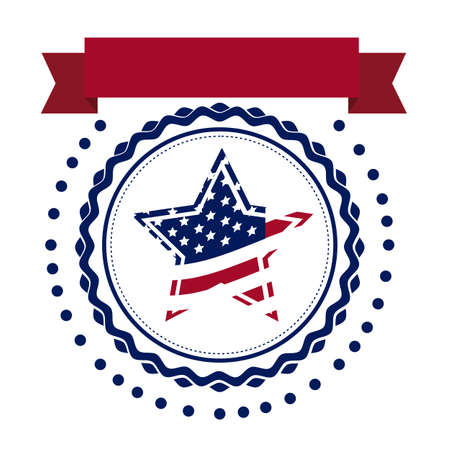 Illustration Patriotic United States of America, USA, vector illustration Vector