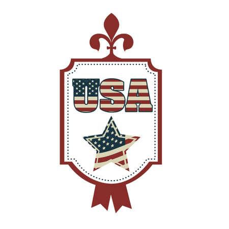 wrestlers: Illustration Patriotic United States of America, USA, vector illustration