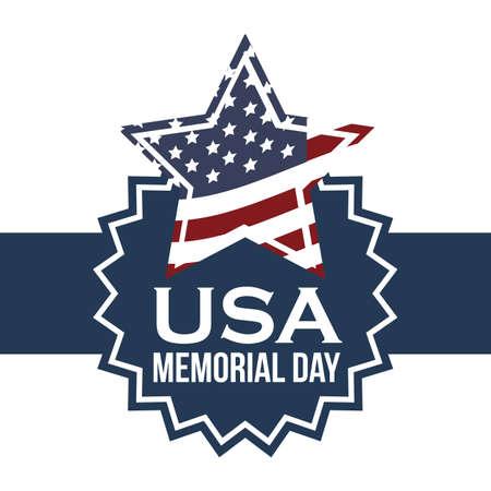 history month: Illustration Patriotic United States of America, USA, vector illustration