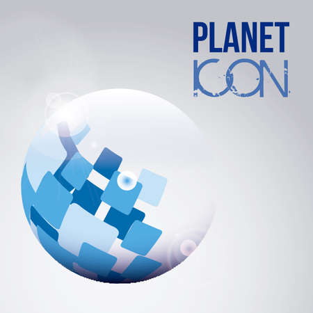 Illustration of planet earth icon and sphere, vector illustration Stock Vector - 19051070