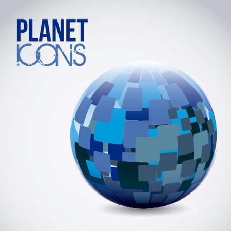Illustration of planet earth icon and sphere, vector illustration Stock Vector - 19051077