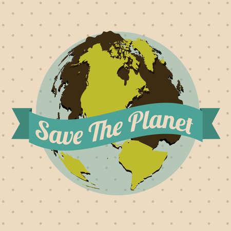 Illustration of planet earth, earth day, vector illustration Vector