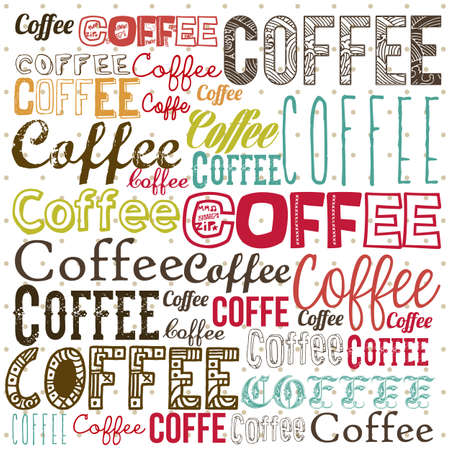 illustration of coffee icons, coffee illustration, vector illustration Vector