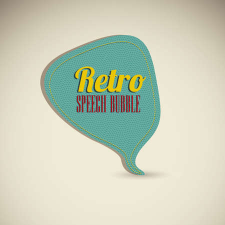 speak out: Illustration of text balloons,  retro style and color, vector illustration