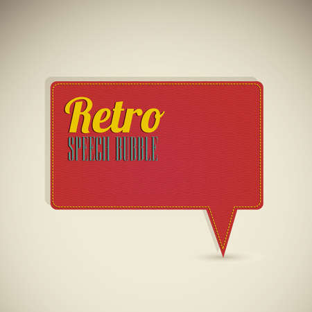 Illustration of text balloons,  retro style and color, vector illustration Vector