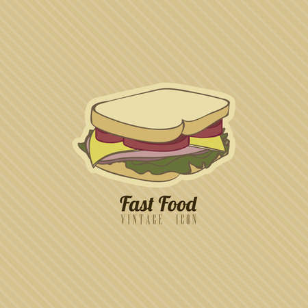 Illustration of fast food vintage, retro style, vector illustration Stock Vector - 19218460
