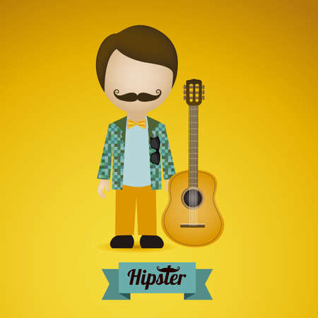business continuity: Illustration of style hipster, hipster culture and community, vector illustration