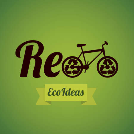 Illustration of recycling, recycle, reduce and reuse, vector illustration Vector