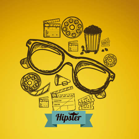 Illustration of style hipster, hipster culture and community, vector illustration Stock Vector - 19218541