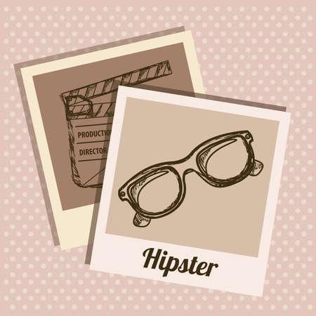 polaroid: Illustration de hippie de style, la culture hippie et de la communaut�, illustration