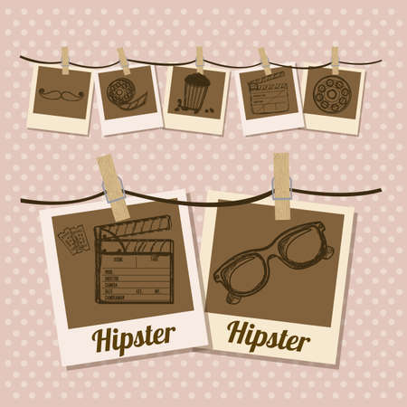 Illustration of style hipster, hipster culture and community, vector illustration