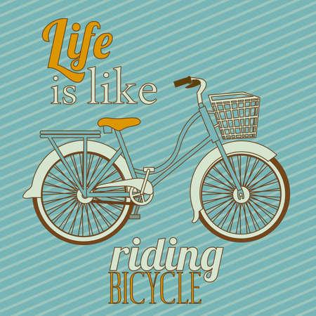 Illustration de bicyclette, monte sur le vélo, l'illustration vectorielle Vecteurs
