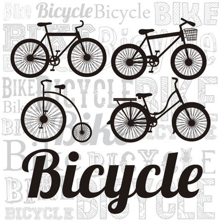 training wheels: Illustration of Bicycle, Riding on the bicycle, vector illustration Illustration